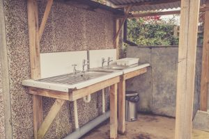 Campsite washing-up facilities